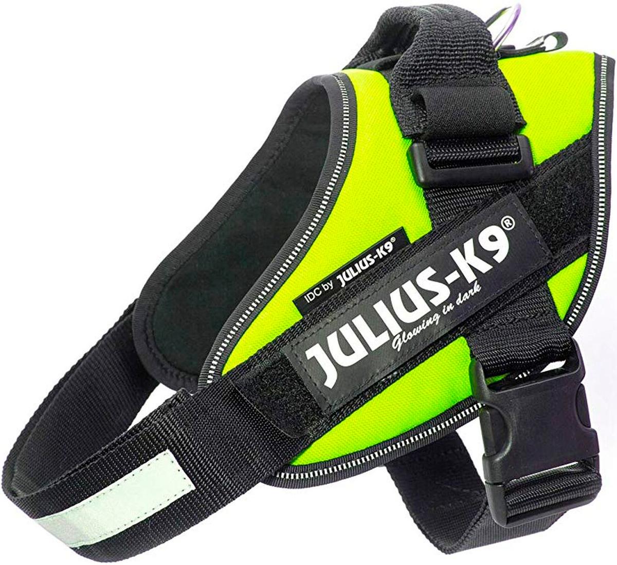 Шлейка для собак Julius-K9 Idc Powerharness 2 зеленый неон 28 - 40 кг 71 – 96 см (1 шт)