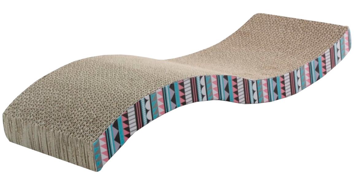 Когтеточка лежанка Triol Волна гофрокартон с кошачьей мятой 53 х 20,5 х 8,5 см (1 шт)
