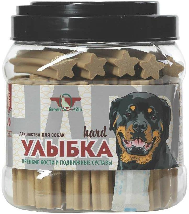 Лакомство Green Qzin Улыбка Hard №20 для собак всех пород палочки мягкие жевательные для зубов, костей и суставов 1130 гр 55 шт (1 шт)