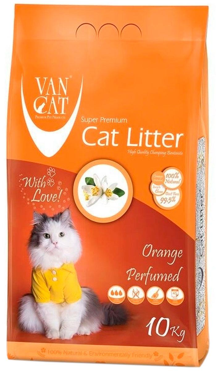 Фото - Van Cat Orange наполнитель комкующийся для туалета кошек с ароматом апельсина (10 + 10 кг) комкующийся наполнитель