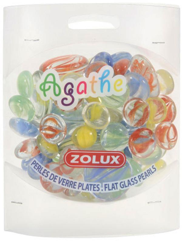 Декор для аквариума Zolux Агата стеклянный микс 400 гр (1 уп).
