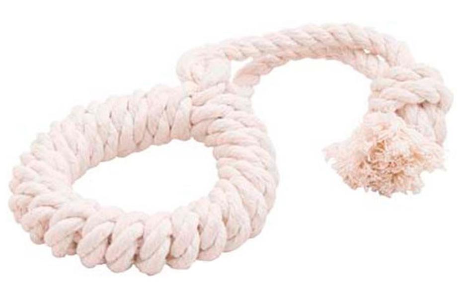 Игрушка для собак Doglike Dental Knot Кольцо канатное белое среднее (1 шт)