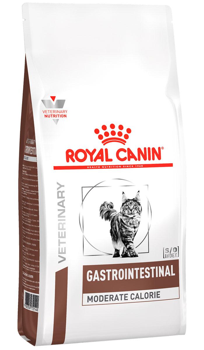 Royal Canin Gastro Intestinal Moderate Calorie Gim35 для взрослых кошек при заболеваниях желудочно-кишечного тракта с умеренным содержанием энергии (0,4 кг) royal canin gastro intestinal puppy для щенков при заболеваниях желудочно кишечного тракта 195 гр 195 гр