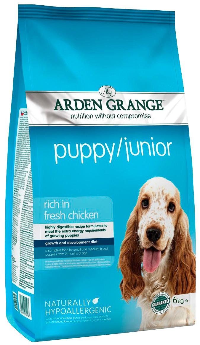 Arden Grange Puppy Junior для щенков всех пород с курицей и рисом  (6 кг)