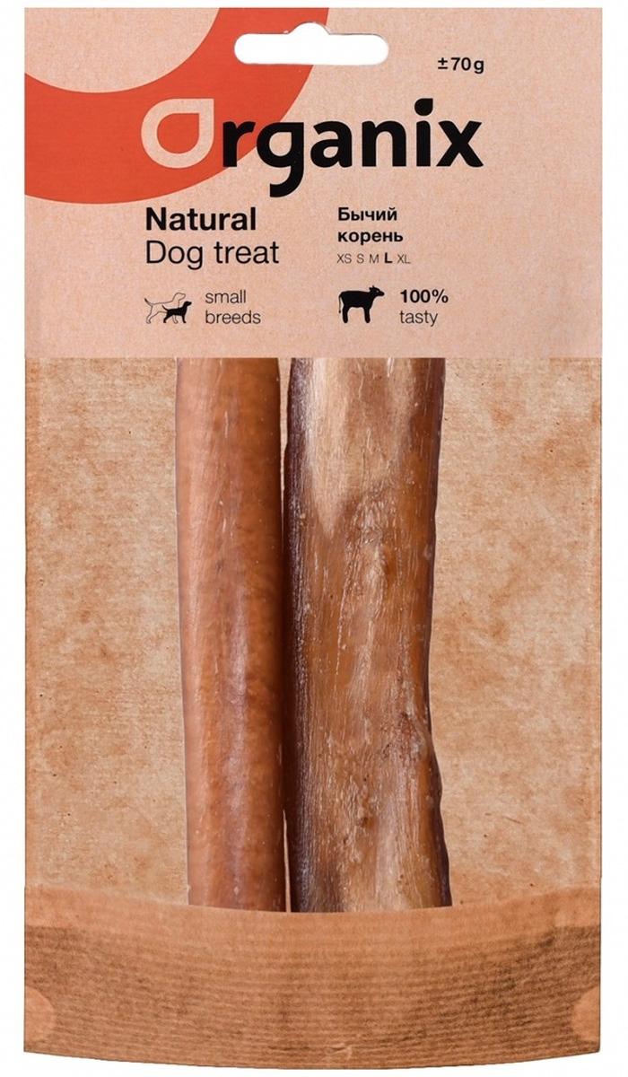 Лакомство Organix для взрослых собак всех пород бычий корень L (1 шт)