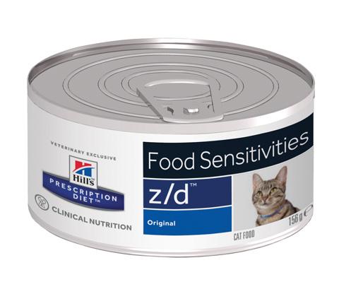 Hill's Prescription Diet Z/d Ultra Allergen-free для взрослых кошек при острых пищевых аллергиях 156 гр (156 гр)