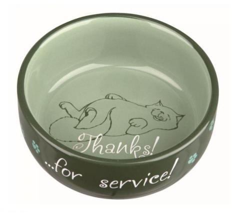 Trixie керамическая миска «thanks For Service!» (0,3 л)