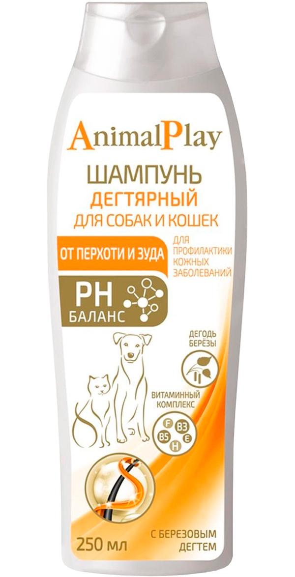 Шампунь дегтярный для собак и кошек против перхоти и зуда Animal Play 250 мл (1 шт)