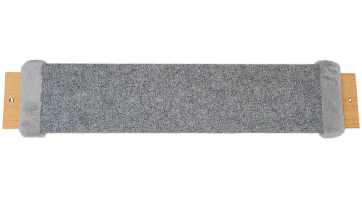 Когтеточка Дарэлл Мини серый ковролин с пропиткой 57 х 12 х 2 см (1 шт) когтеточка дарэлл джут 95 круглая с 2 полками серая 56 х 36 х 52 см 1 шт