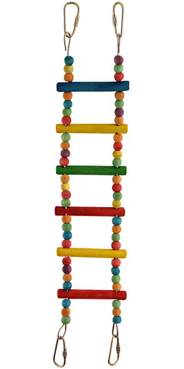 Игрушка для птиц Triol Лестница большая с бусинами 46 см (46 см) игрушка для птиц triol br43 ромашки 19 см