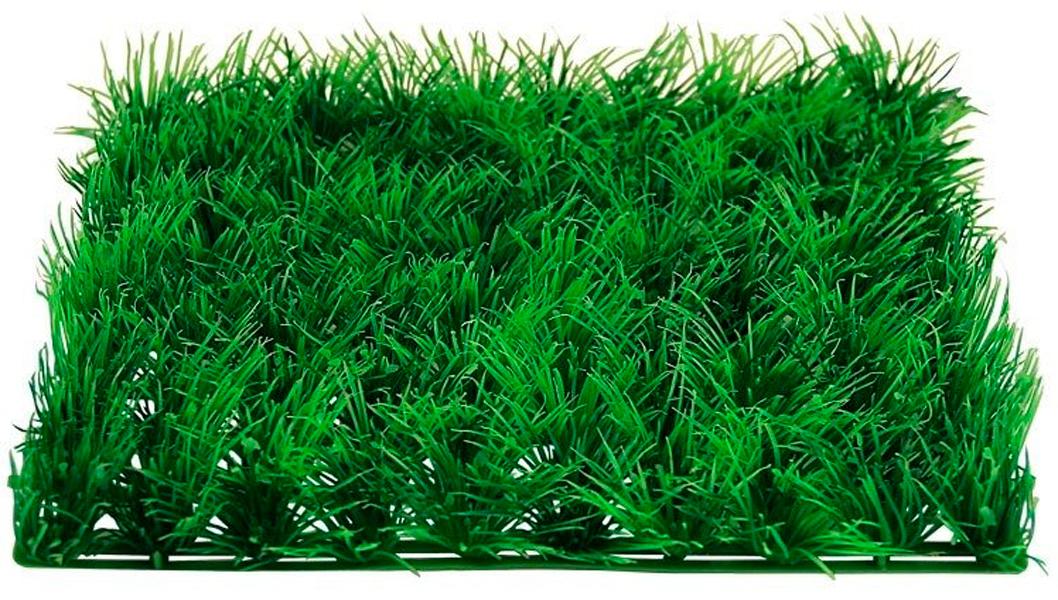 Растение для аквариума пластиковое Коврик зеленый Laguna 0524 25 х 25 х 3 см (1 шт)