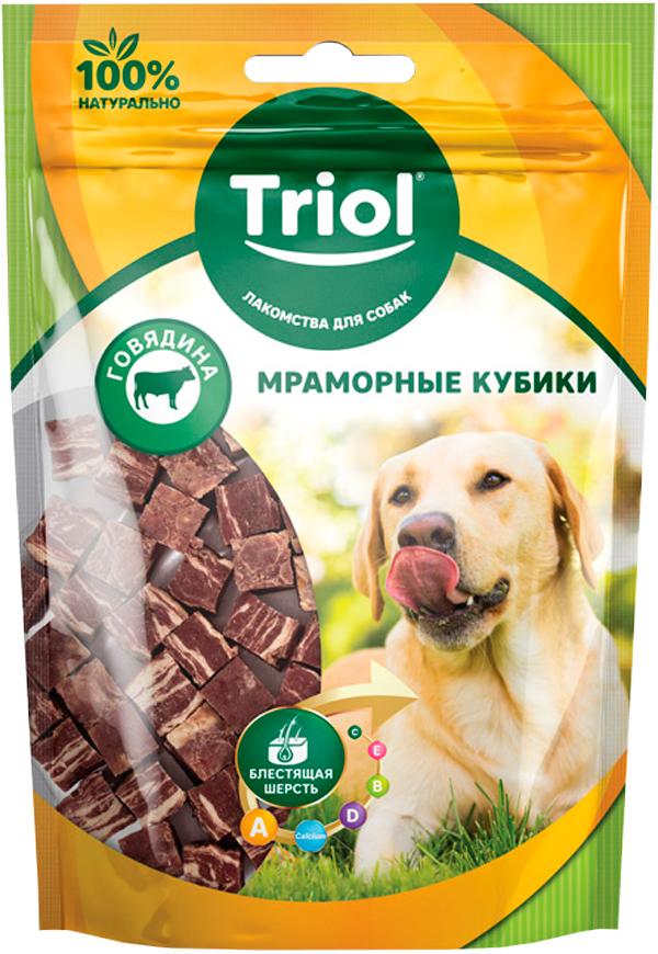 Лакомство Triol для собак кубики мраморные с говядиной 70 гр (1 шт)