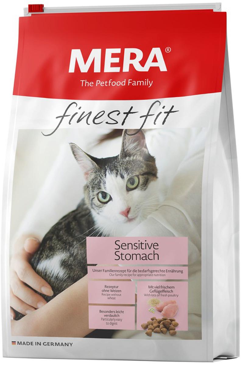 Mera Finest Fit Cat Sensitive Stomach для взрослых кошек с чувствительным пищеварением с птицей (0,4 кг)