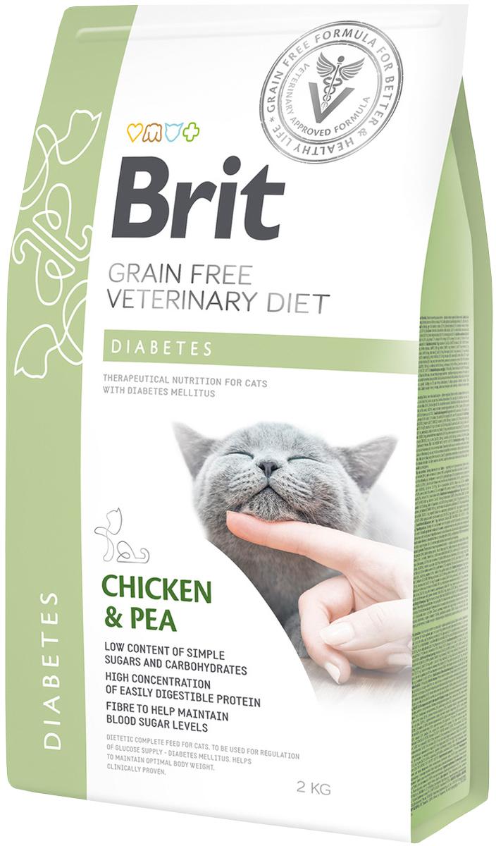 Brit Veterinary Diet Cat Grain Free Diabetes для взрослых кошек при диабете (0,4 кг)