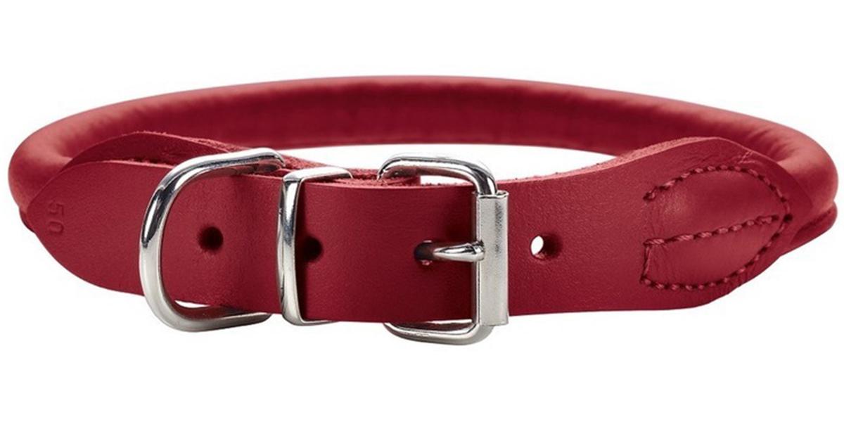 Ошейник для собак Hunter Round & Soft Elk 32 круглый кожа лося красный чили 6 мм 24 – 27 см (1 шт) ошейник для собак hunter round