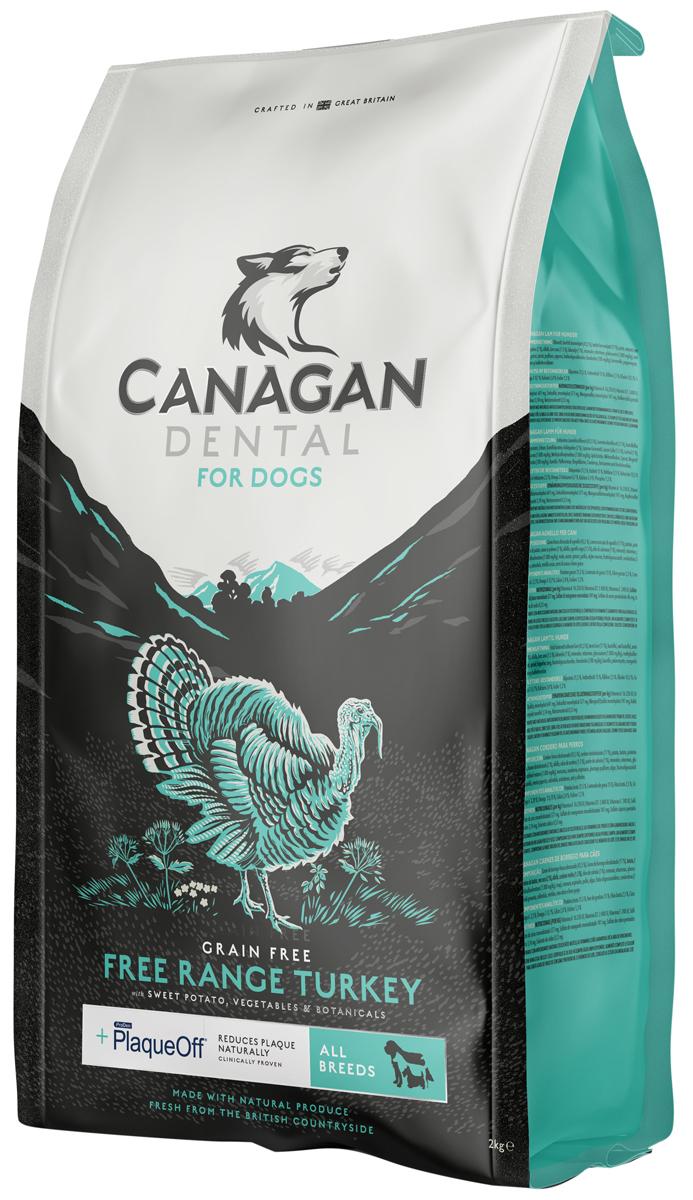 Canagan Grain Free Dental All Breed беззерновой для собак и щенков всех пород с индейкой для ухода за полостью рта (6 кг) фото