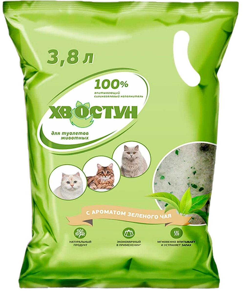 хвостун наполнитель силикагелевый для туалета кошек с ароматом зеленого чая (3,8 л) for cats наполнитель силикагелевый для туалета кошек с ароматом зеленого чая 8 л