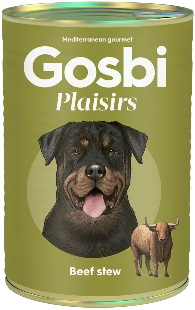 Gosbi Plaisirs Beef Stew беззерновые для взрослых собак с тушеной говядиной (170 гр х 10 шт)