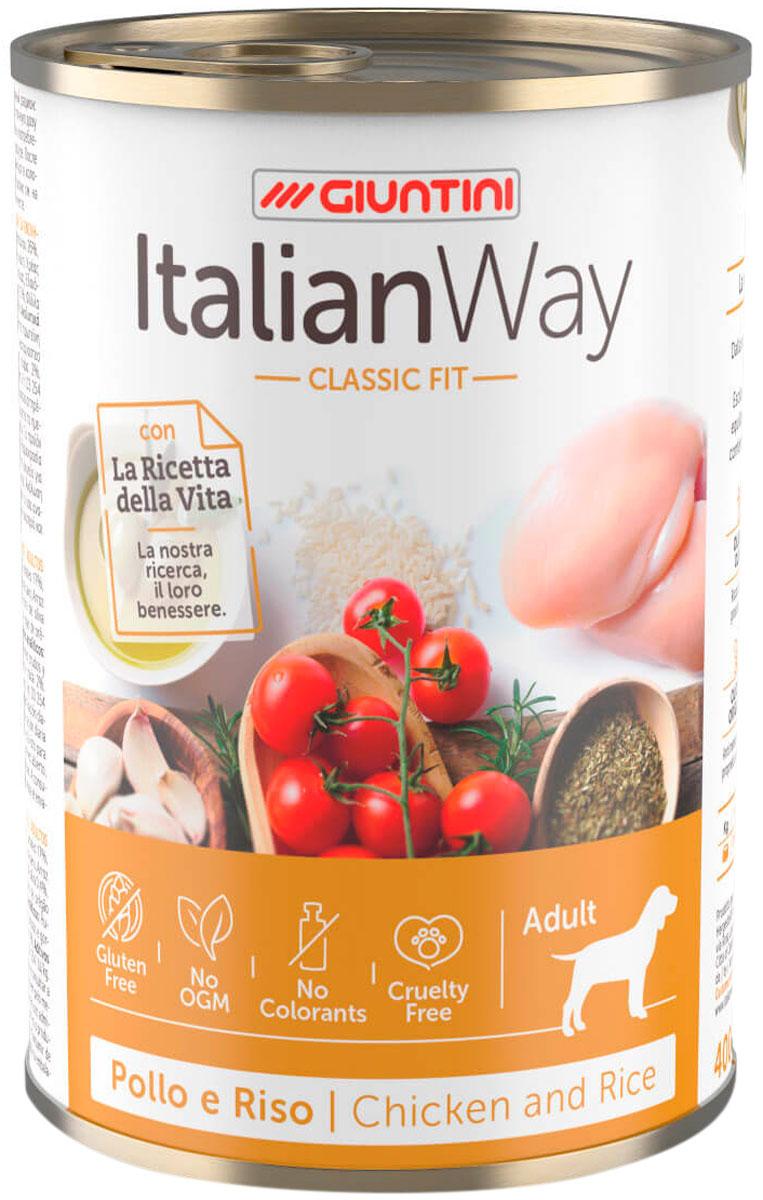 Italian Way Dog Adult безглютеновые для взрослых собак всех пород с курицей, томатами и рисом (150 гр х 24 шт)