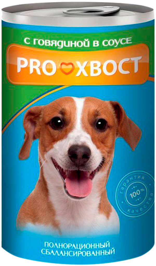 Proхвост для взрослых собак с говядиной в соусе 415 гр (415 гр х 12 шт)