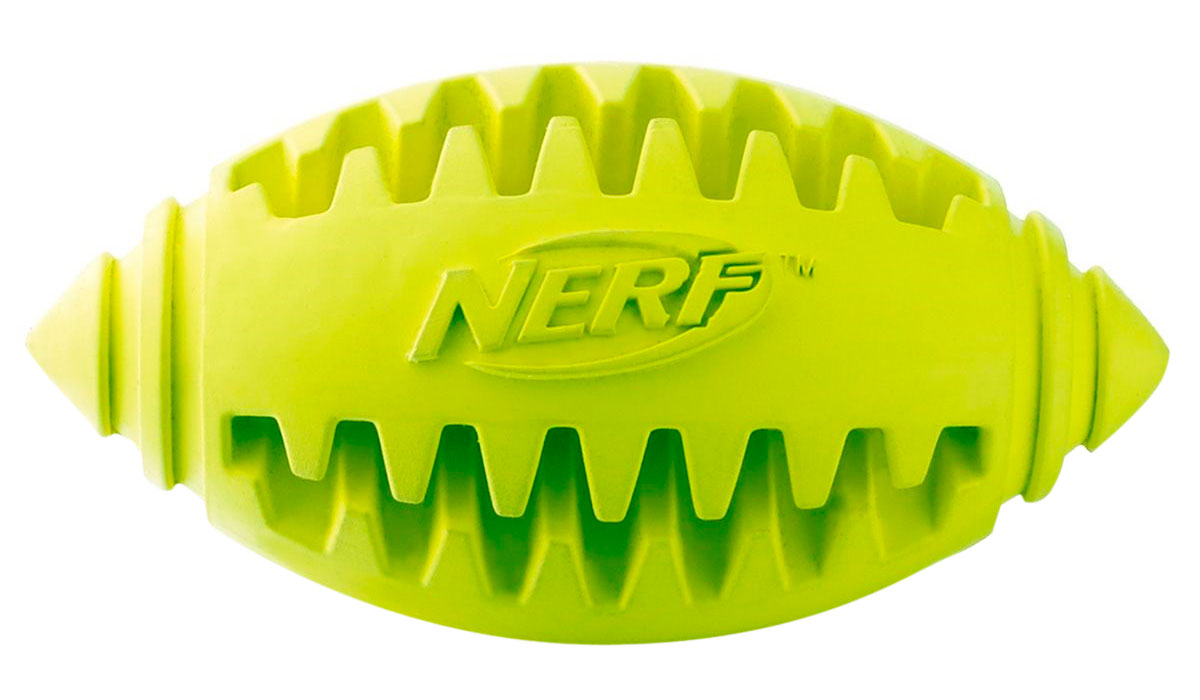 Игрушка для собак Nerf Мяч для регби рифленый 12,5 см (1 шт)