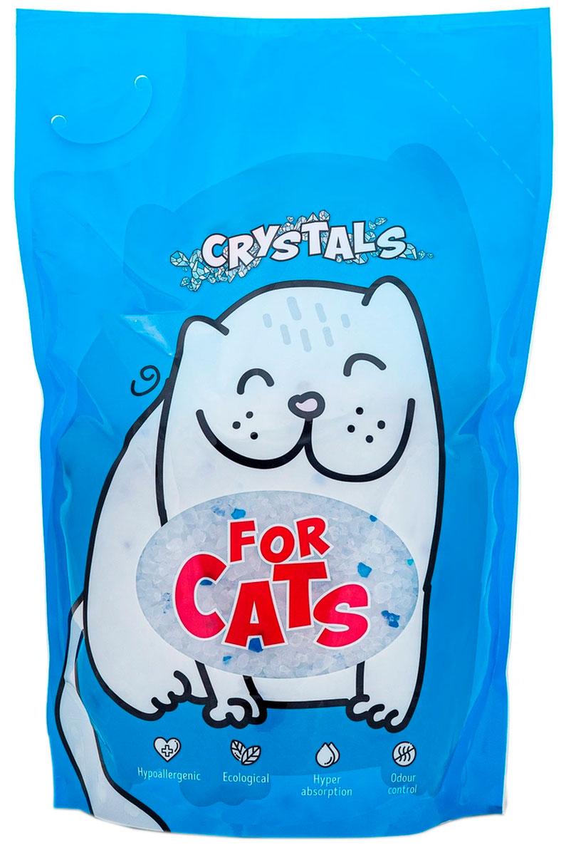 For Cats наполнитель силикагелевый для туалета кошек (8 л) for cats наполнитель силикагелевый для туалета кошек с ароматом зеленого чая 8 л