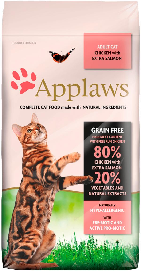 Applaws Adult Cat Chicken & Salmon Grainfree беззерновой для взрослых кошек с курицей и лососем (7,5 кг)