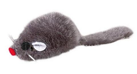 Trixie игрушка для кошек «Мышка серая», 5 см (1 шт)