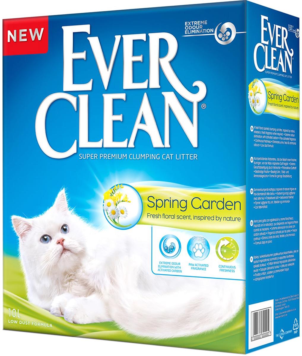 Фото - Ever Clean Spring Garden наполнитель комкующийся для туалета кошек с ароматизатором весенний сад (6 + 6 л) комкующийся наполнитель