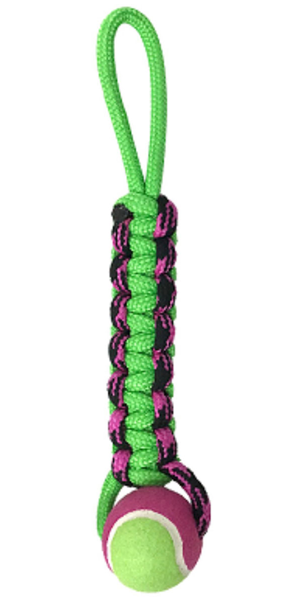 Игрушка для собак Aromadog Petpark плетенка с теннисным мячом и петлей 8 см (1 шт)