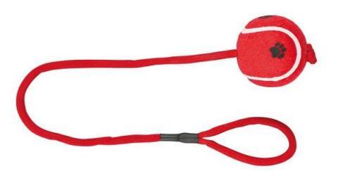 """Trixie игрушка для собак """"Теннисный мяч"""" на веревке (6,5 см/50 см)"""
