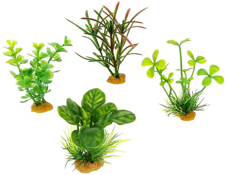 Набор пластиковых растений для аквариума Prime Pr-ys-70533 уп. 4 шт (1 уп) 0 pr на 100