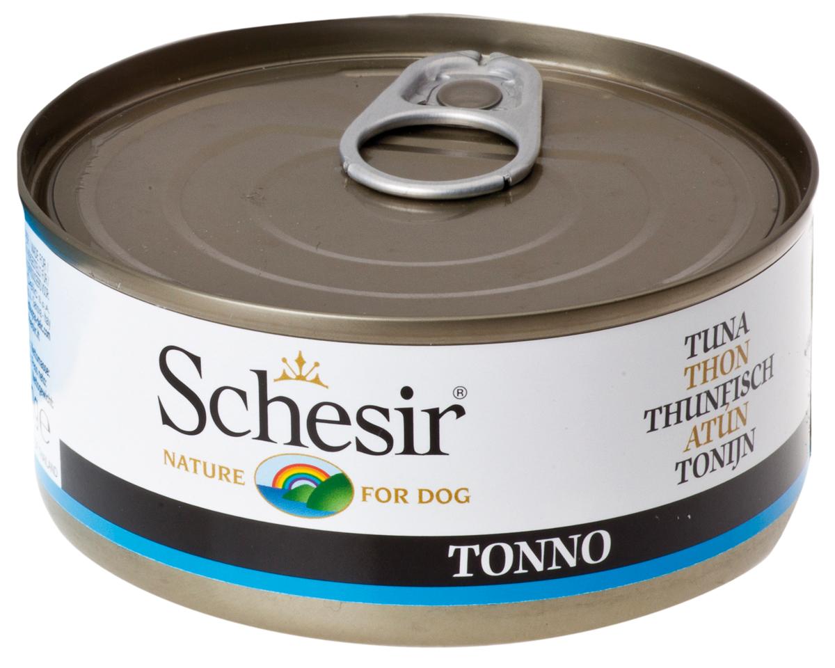 Schesir Dog Tuna для взрослых собак с тунцом (150 гр)