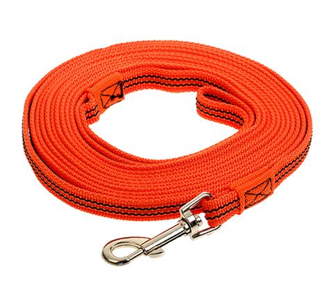 Поводок для собак 20 мм капроновый с латексной нитью оранжевый 5 м Зооник (1 шт) фото