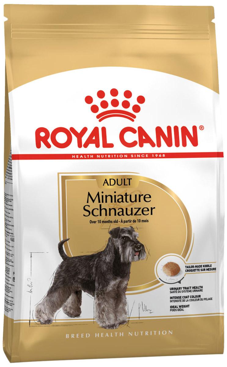 Royal Canin Miniature Schnauzer Adult для взрослых собак миниатюрный шнауцер (7,5 + 7,5 кг)