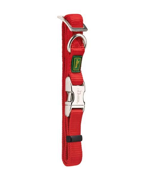 Ошейник для собак нейлон с металлической застежкой красный 30 – 45 см Hunter ALU-Strong (1 шт)