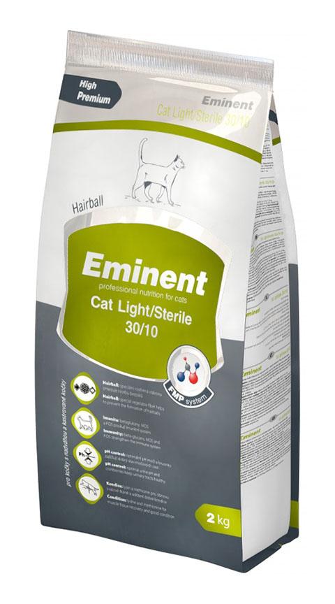 Eminent Cat Light/sterile 30/10 диетический для взрослых кастрированных котов и стерилизованных кошек с курицей (10 кг)