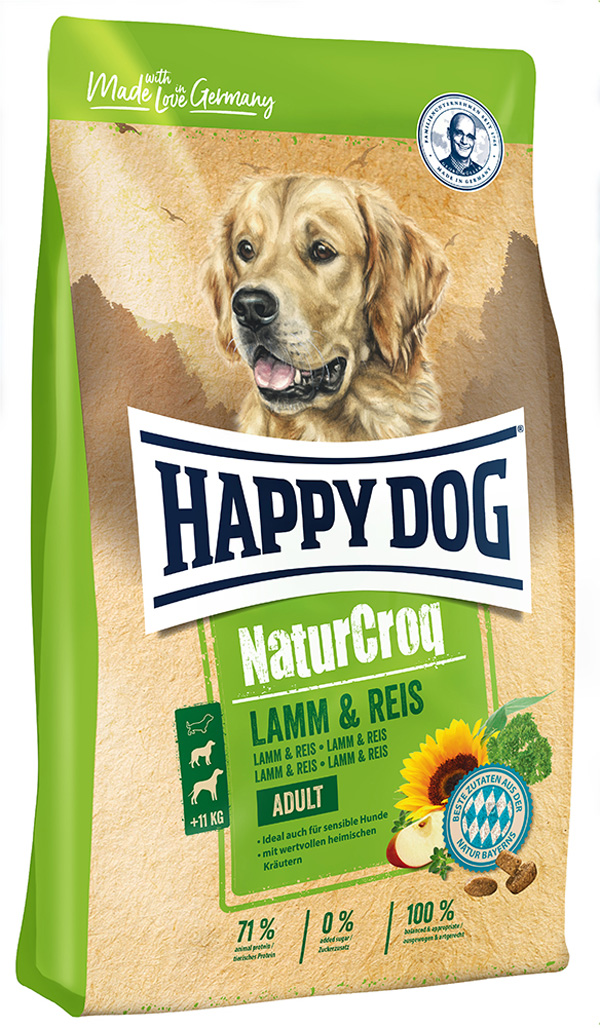 Happy Dog Naturcroq Lamm & Reis для взрослых собак всех пород при аллергии с ягненком и рисом (15 + 15 кг) happy dog naturcroq senior для пожилых собак всех пород 15 кг