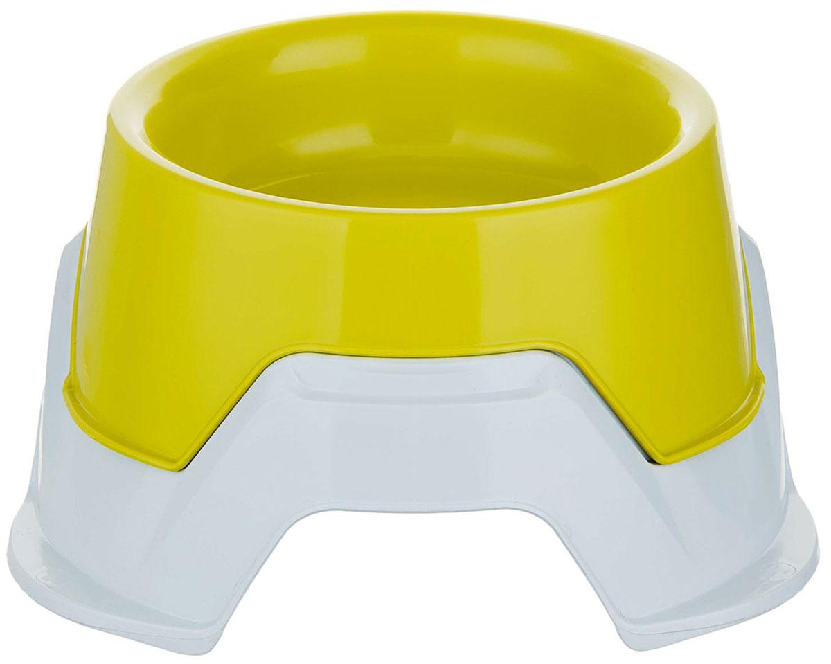 Миска двойная для животных Bama Pet Mimi 360 - 650 мл желтая (1 шт)