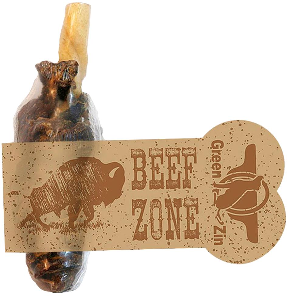 Лакомство Green Qzin Beef Zone для собак всех пород граната мясная сушеная 6 дюймов (1 шт)