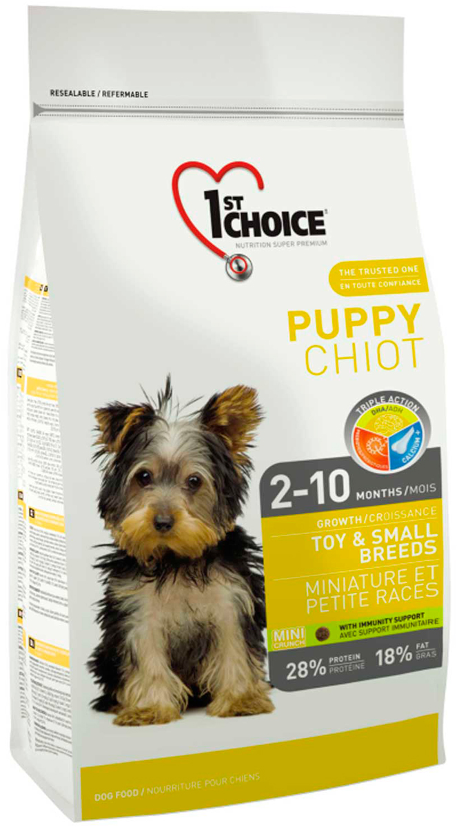 1st Choice Puppy Toy & Small Breeds для щенков маленьких пород с курицей (2,72 кг)