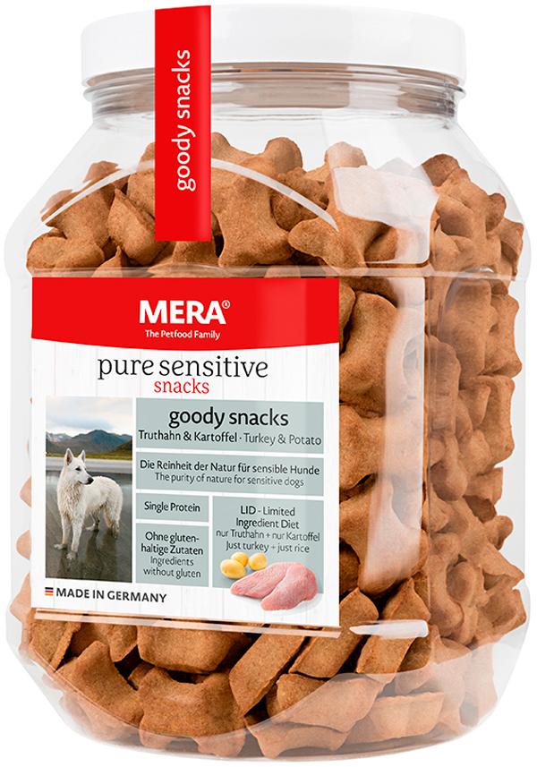 Лакомство Mera Pure Sensitive Goody Snacs Truthahn & Kartoffel беззерновое для собак с чувствительным пищеварением снеки с индейкой и картофелем 600 гр (1 шт)