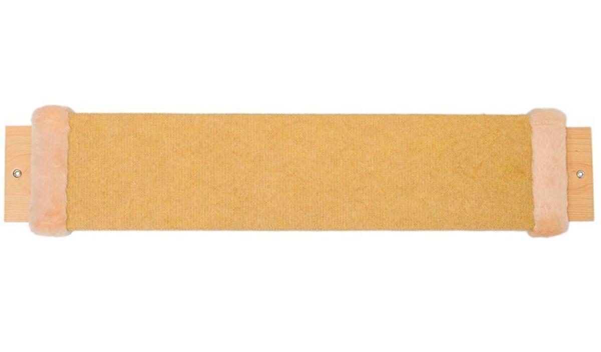 Когтеточка Дарэлл Мини бежевый ковролин с пропиткой 57 х 12 х 2 см (1 шт) когтеточка дарэлл джут 95 круглая с 2 полками серая 56 х 36 х 52 см 1 шт