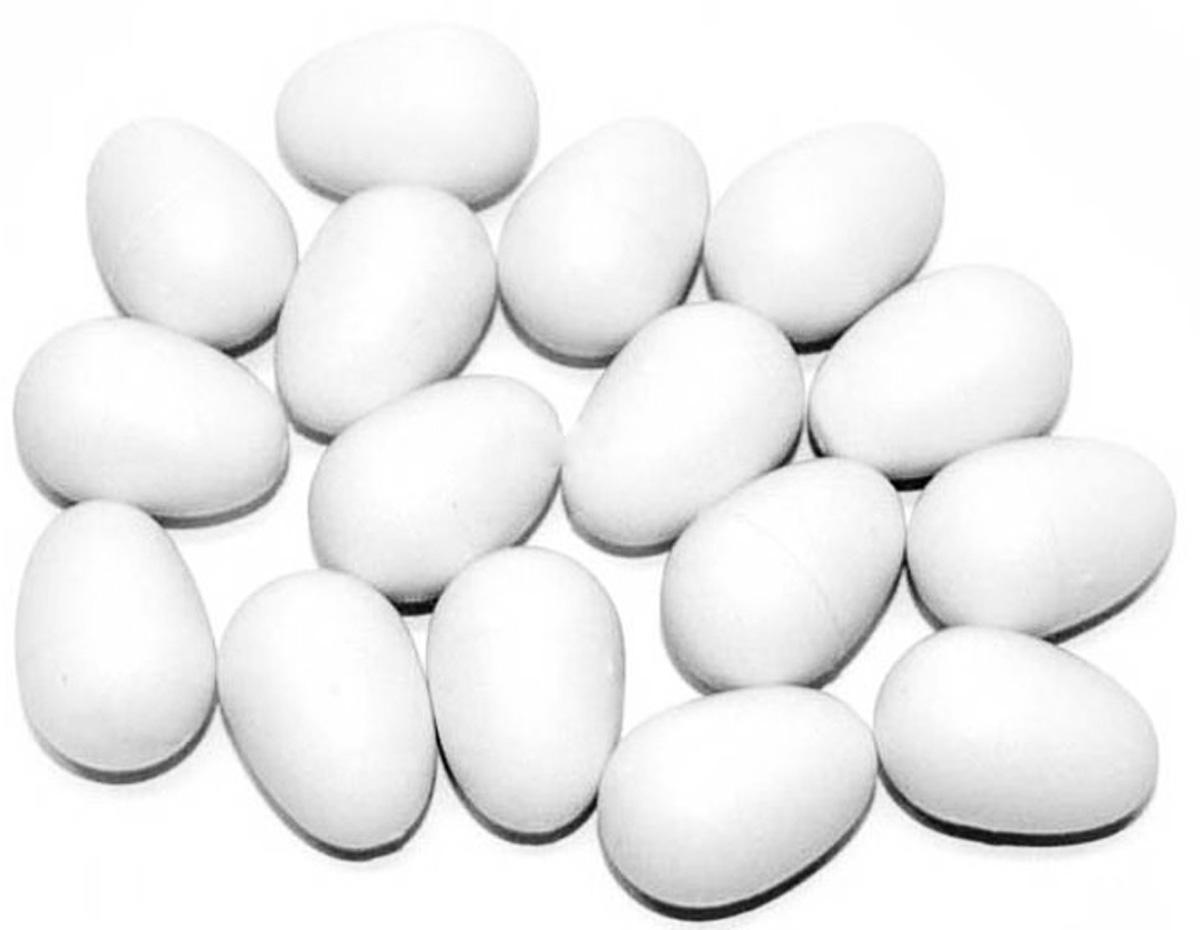 Подкладное яйцо для попугаев Mx (1 шт)