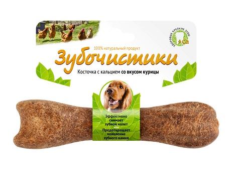 Лакомство зубочистики для собак средних пород для зубов с курицей (12 см)
