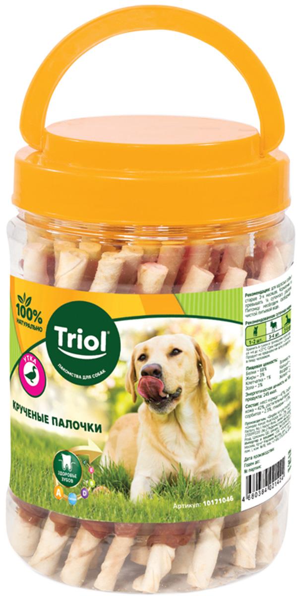 Лакомство Triol для собак палочки крученые с уткой 340 гр (1 шт)