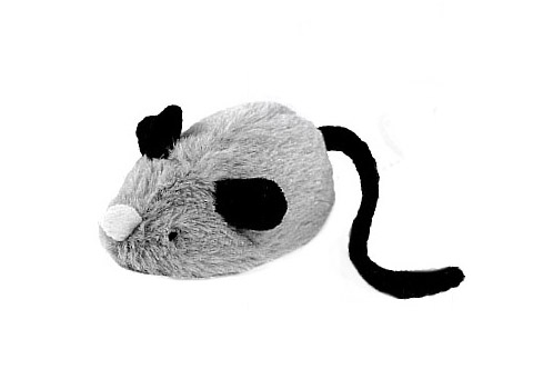Интерактивная игрушка для кошек Мышка со звуковым чипом 19 см GiGwi (1 шт) интерактивная игрушка ar gun 1100 ar005