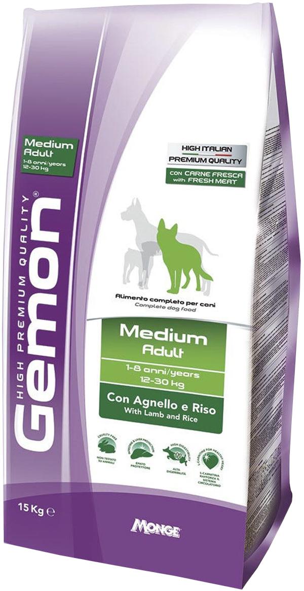 Gemon Dog Adult Medium для взрослых собак средних пород с ягненком и рисом (15 кг) фото