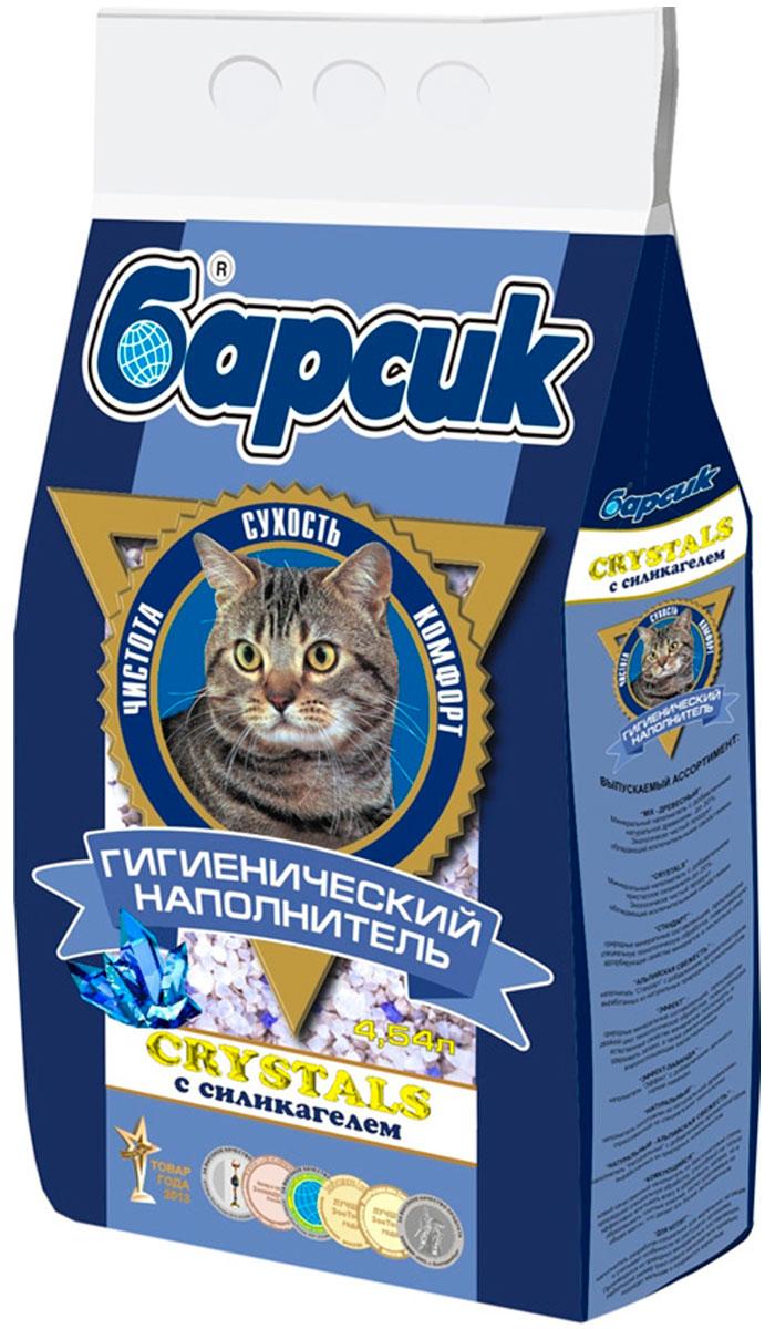 Фото - барсик Crystals - наполнитель впитывающий для туалета кошек с силикагелем (4,54 л) впитывающий наполнитель барсик эконом 4 54 л