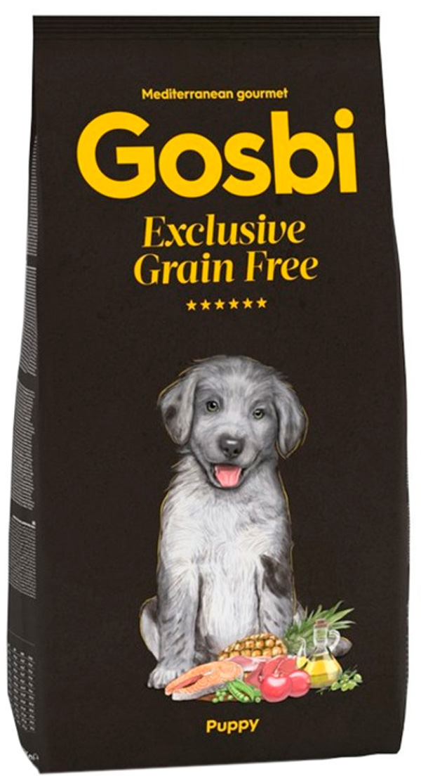 Gosbi Exclusive Grain Free Puppy беззерновой для щенков всех пород с лососем и ягненком (3 кг)